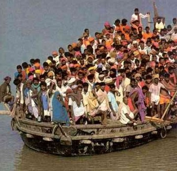 Boat people, asylum seekers, people smugglers and immigrants.