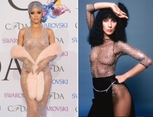 Cher showed off her nipples way before Rihanna